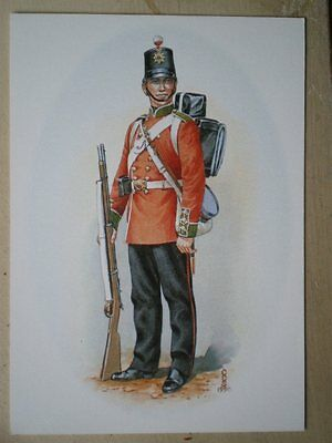 Postcard 66Th Berkshire Regiment C1860 Private Marching Order