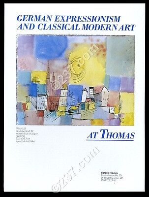 1984 Paul Klee 1928 watercolor Munich art gallery vintage print ad