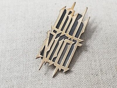 Sterling Silver Judaica Pin Gold Tone .925