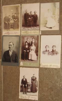antique MINONK IL lot of cabinet PHOTOS  ancestry history geneology