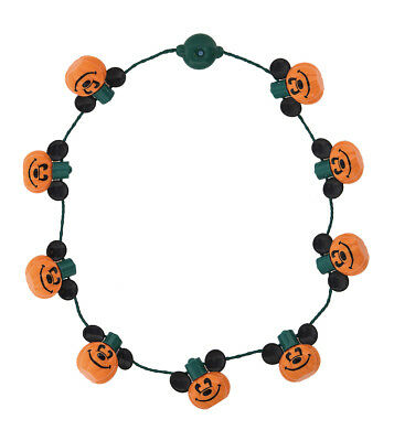 Disney Parks Halloween Mickey Mouse Pumpkin Light Up Glow Necklace
