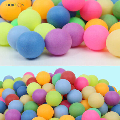 AU 100Pcs/set Colored Ping Pong Balls Entertainment Table Tennis Ball MultiColor