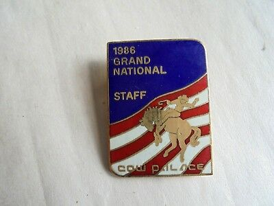 Vintage 1986 Grand National Rodeo Cow Palace Staff Enamel Pin