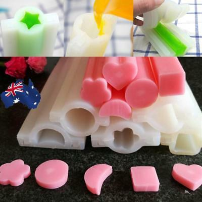 AU! Soap Mold Mould Templet Tool Shape Silicone DIY Round Tube Column Candle