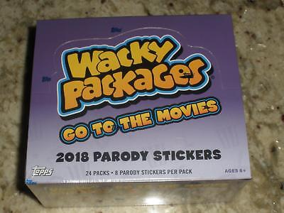 2018 Topps Wacky Packages Go To The Movies Factory Sealed Retail 24 Pack Box