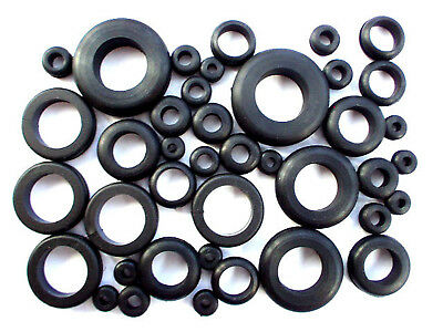 WIRING GROMMETS.  Sizes 6mm to 24mm  40 Mixed Pack ..