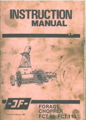 JF Forage Harvester FCT80 & FCT110 Operators Manual