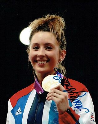 Jade JONES Taekwondo London Olympics Autograph Signed 10x8 Photo 1 AFTAL COA