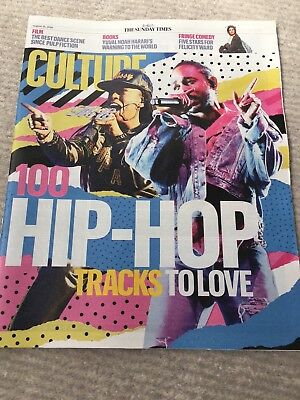 Culture Magazine  Sunday Times  19  August  2018  100 Hip-Hop Tracks To Love