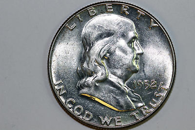 Super Slider 1952 P About Uncirculated Franklin 90% Silver Half Dollar (FHX1004)