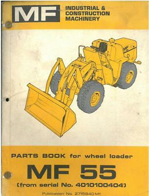 Massey Ferguson MF55 Excavator Parts Manual - MF 55