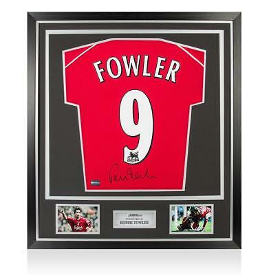 Robbie Fowler Back Signed Liverpool 2000-01 Home Shirt In Classic Frame