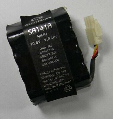 Sunrise Telecom SA141A NiMH Battery 10.8V 1.6Ahr For Sunset Modular Test SSMTT-B