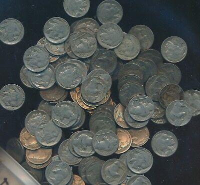 Buffalo - Indian Nickel Lot - Readable Date Rolls Of 40 Coins - Aa