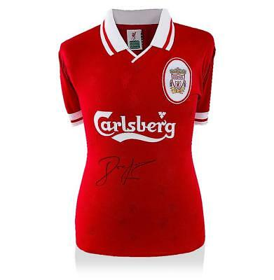 John Barnes Front Signed Liverpool 1996-98 Home Shirt Autograph Jersey