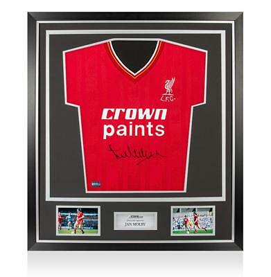 Jan Molby Front Signed Liverpool 1986 Home Shirt In Classic Frame Autograph