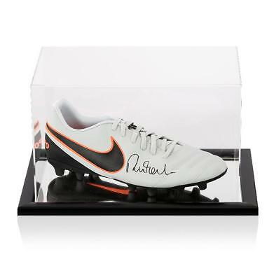 Robbie Fowler Signed Grey Nike Tiempo Boot In Acrylic Case Autograph Cleat