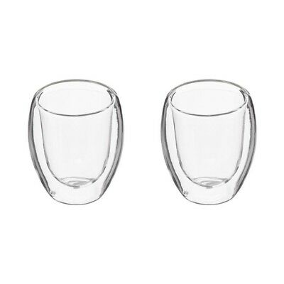 "Paris Prix - Lot De 2 Tasses à Café ""double Paroi"" 10cl Transparent"