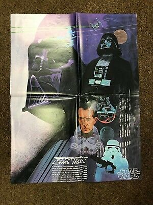 Vintage Star Wars Darth Vader Burger Chef / Coca-Cola Poster 1979 #mp-09