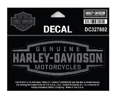 Harley-Davidson Velocity Text Decal, SM Size 5 x 2 in. - Black & Silver DC327802