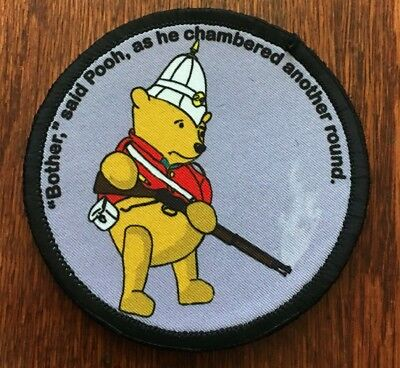 Circular  Winnie The Pooh Martini Henry Morale Patch Tactical Military USA Army