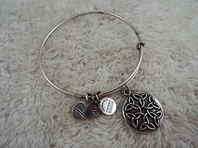 ALEX and ANI Endless Knot Charm Bangle Rafaelian Silver Bracelet (A37)