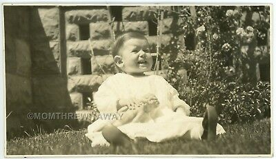 c1900s Photo Iowa IA Holstein Cute Little Baby Girl Alberta Norton with Doll