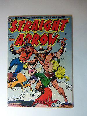1952 STRAIGHT ARROW # 22 / ME Comic Book VG- w/ FRANK FRAZETTA COVER