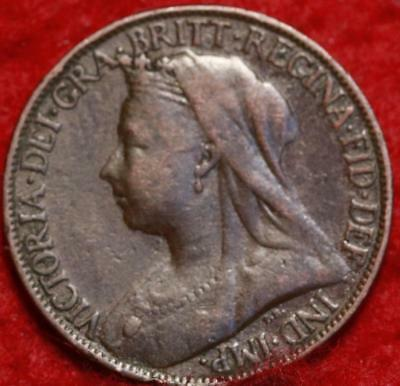 1895 Great Britain Farthing Foreign Coin