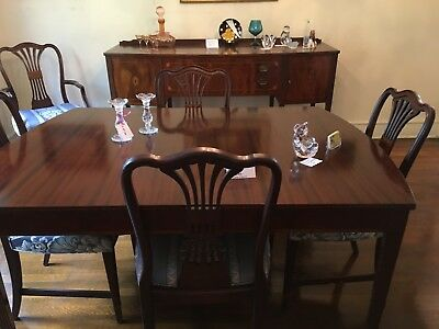 VINTAGE FLINT\'S FINE Furniture Mahogany Dining Room Set ...