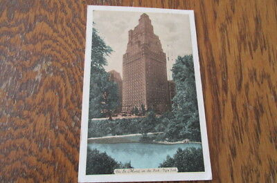 1937 Postcard The St Moritz On the Central Park NY Jewill Cowan P112
