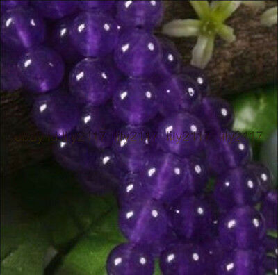 """Hot sell ! Wholesale 5pcs 10mm Russican Amethyst Gemstone Round Loose Beads 15"""""""