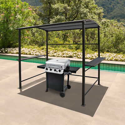 8ft BBQ Tent Canopy Grill Gazebo Awning Outdoor with Single-Tier Top Yard Gray & 8FT BBQ TENT Canopy Grill Gazebo Awning Outdoor with Single-Tier Top ...