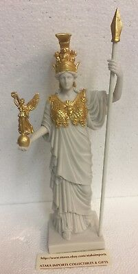 Athena Parthenos Greek Goddess Figurine w Statue of Victory the Virgin Warrior
