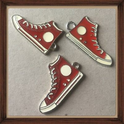 Lot Of 3🔥Vintage Red Sneakers🔥  Metal Charms,Brand New