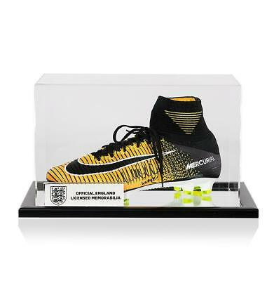e0a7e2701f91e Kyle Walker Official England Signed Yellow and Black Nike Mercurial Hightop  Boot