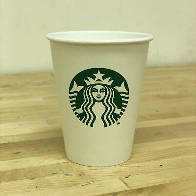 Starbucks White Disposable Hot Paper Cup - 8 oz 200 Pack Tea Coffee Eco Friendly