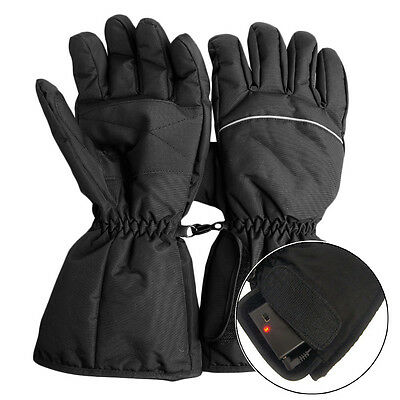 2X Waterproof Heated Gloves Battery Powered Motorcycle Hunting Winter Warmer