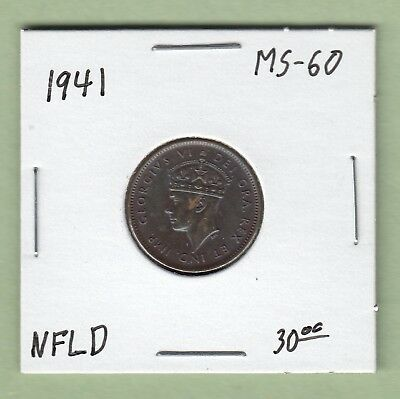 1941 Newfoundland One Cent Coin - MS-60