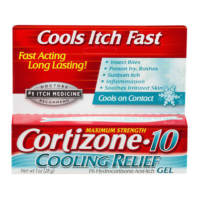 Cortizone 10 Cooling Relief Gel 28 gram 1 oz Fresh Exp 3/2020