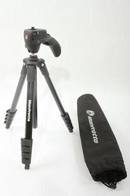Used Manfrotto Compact Action Aluminum Tripod - Black