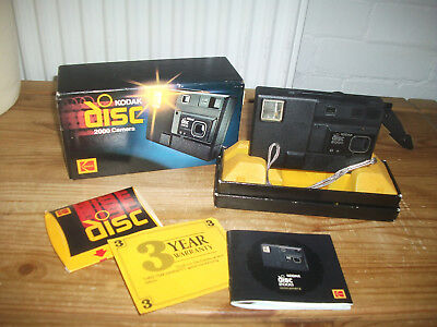 Vintage Retro Kodak Disc 2000 Camera Boxed with Disc and Paperwork