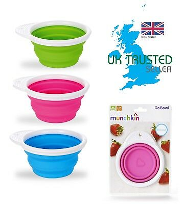 Munchkin Go Bowl Baby Weaning Feeding Snack Travel Box Seal Silicone Container