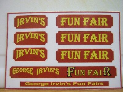 George Irvin's Fun Fair stickers (C)