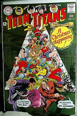Teen Titans #13 Jan-Feb 1968 DC Comics Christmas cover and story High Grade