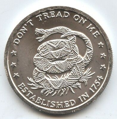 Don't Tread on Me .999 Silver Medal 1 oz Round - Eternal Vigilance - AT161