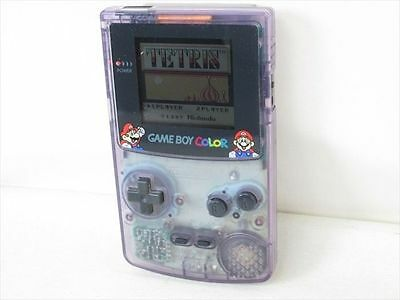 GAME BOY COLOR JUNK Original MARIO ver Console Purple Nintendo CGB-001 /1950 gb