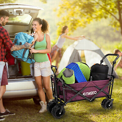 Foldable Utility Wagon Trolley Sport Outdoor Cart Camping Beach Sporting Chart