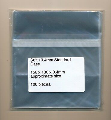 100 Cello Bags / Sleeves 156 x 130 Suit Standard CD Jewel Case