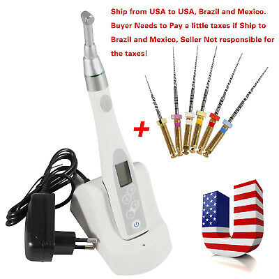 Wireless Cordless Dental Endo Motor 16:1 Reduction Root Canal Treatment W/ Files